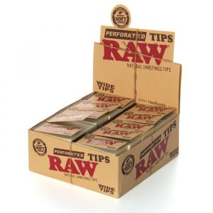 raw perforated tips wide tips front side box