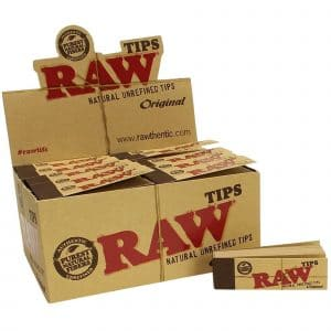 86279 B2 Raw Original Tips Classic Booklet RYO Smoke Natural Long Fiber Display Box Open  45319.1589911239
